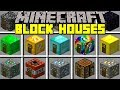 Minecraft BLOCK HOUSES MOD l INSTANT DIAMOND, GOLD, EMERALD, LUCKY BLOCK HOUSES! l Modded Mini-Game