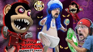 DON'T STOP RUNNING!! Scary Monkey Game! 🙈 (FGTEEV plays Dark Deception #1) Video