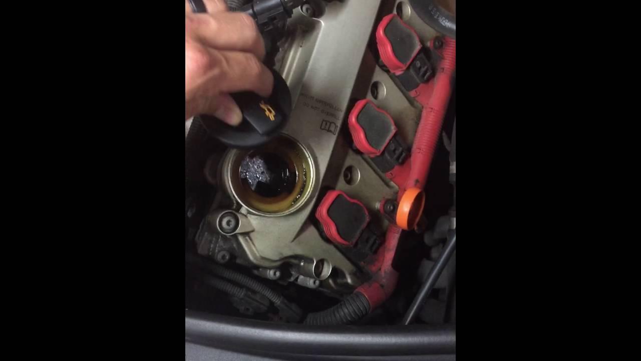 Audi A6 C6 2007 PCV valve check - YouTube
