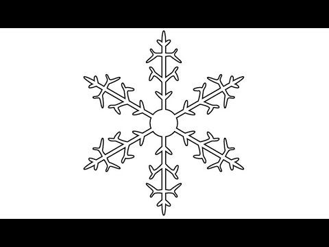 How to Draw a Snowflake in Adobe Illustrator / 1 - YouTube