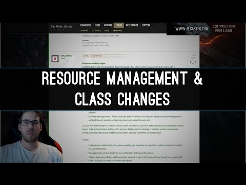 Resource Management & Class Changes - Morrowind PTS