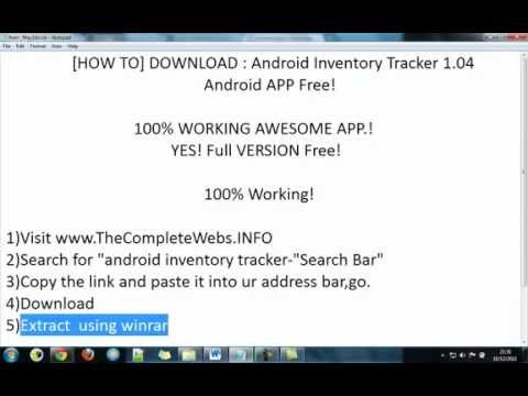 download inventory tracker 1 04 android full version free youtube