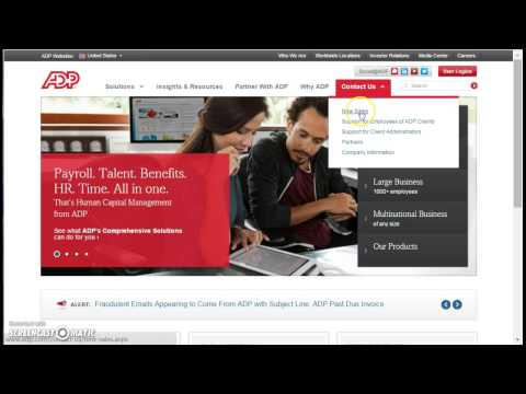 ADP Payroll Portal Employee Login - YouTube