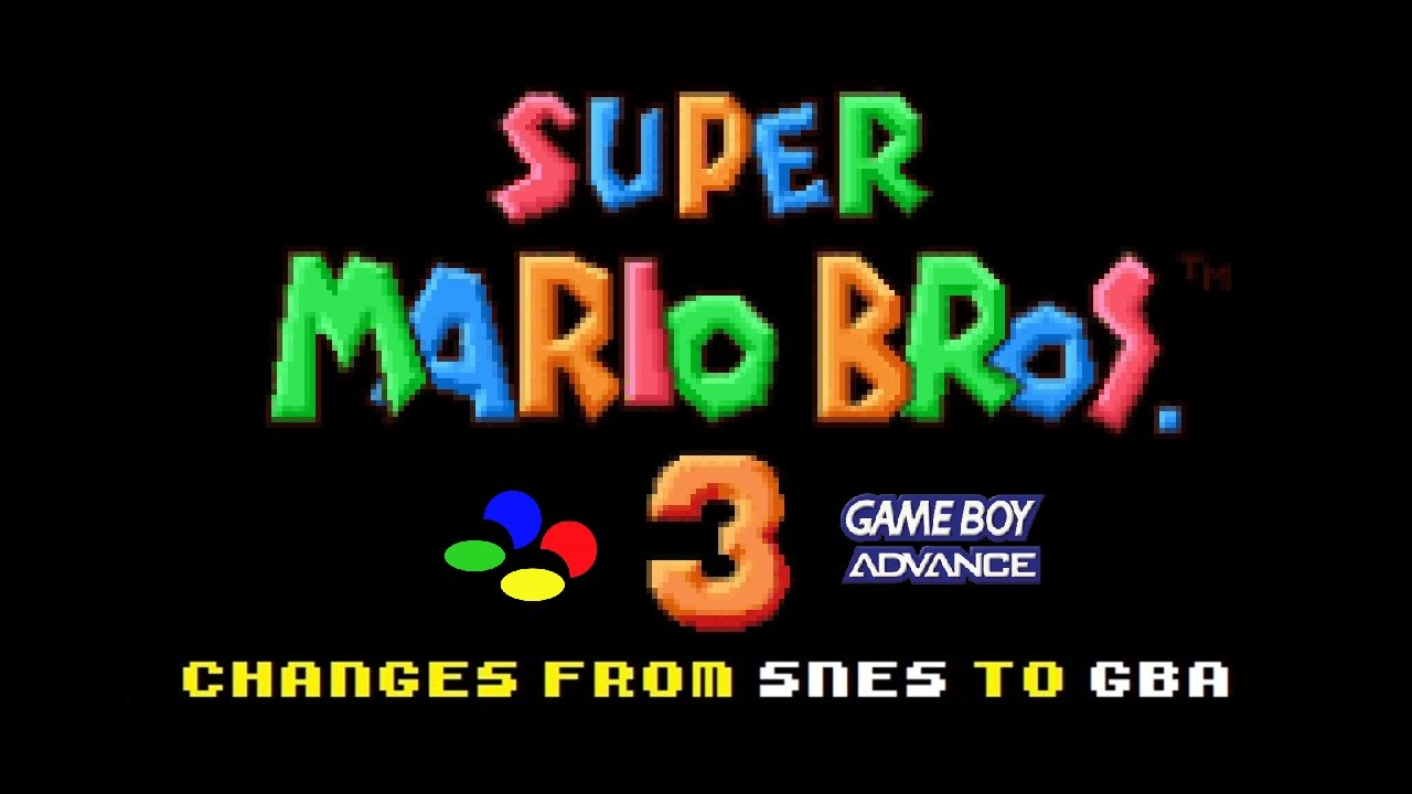 Super Mario Bros 3 Changes From Snes To Gba Youtube