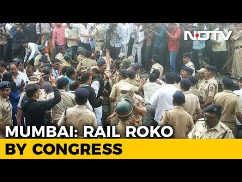 Bharat Bandh: Congress Workers Protest In Maharashtra, Block Rail Traffic