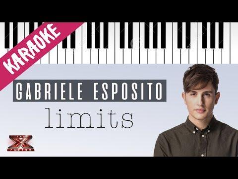 Gabriele Esposito | Limits | X Factor 11 (INEDITO) // Piano Karaoke con Testo