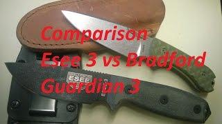 Comparison Esee 3 vs Bradford Guardian 3
