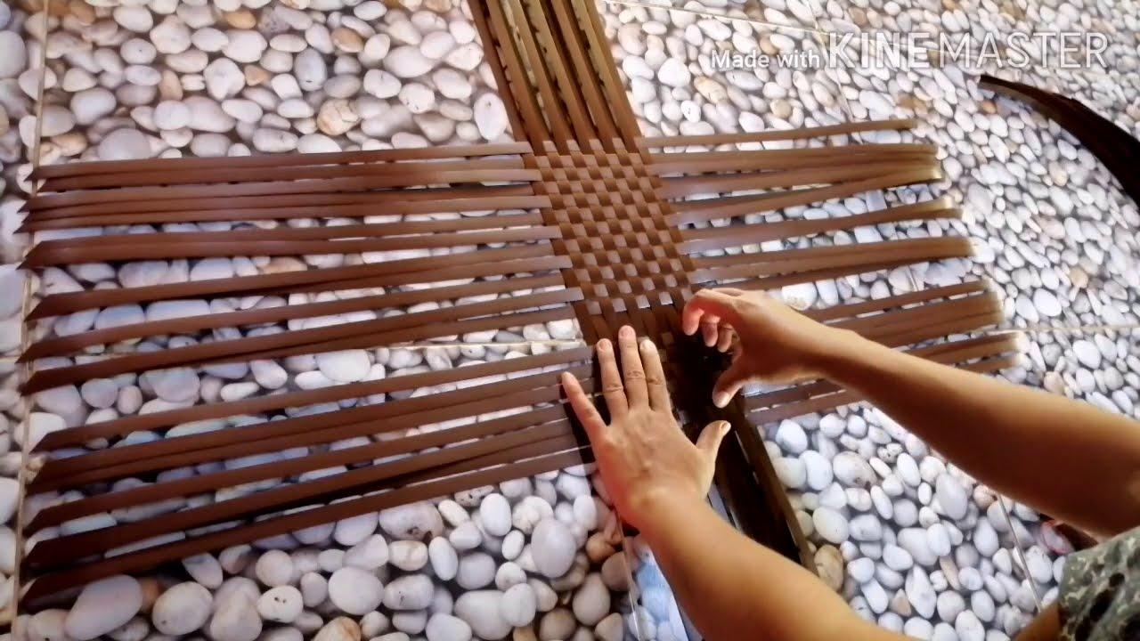 วิธีขึ้นก้นตะกร้าง่ายๆไห้สวย    สำหรับมือใหม่หัดสาร   สานตะกร้าทีละขั้นตอนง่ายๆ