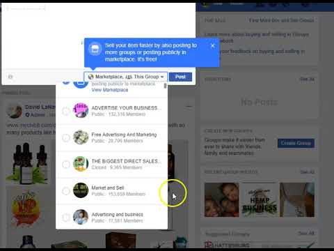 Facebook New posting feature 2018     Facebook New feature Makes Multiple Group posting Simple