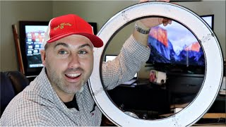 I bought a RING LIGHT for YOUTUBE VIDEOS! (+ she kissed a Moose !)