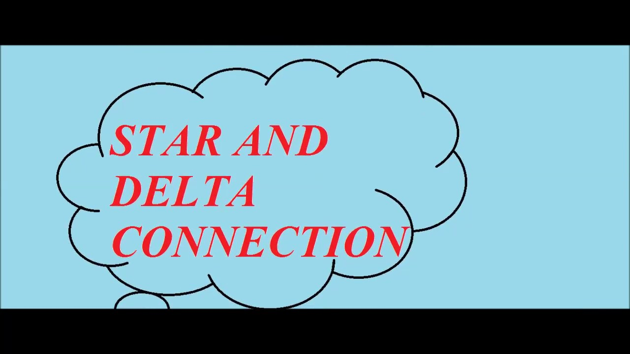 star and delta connection basic ( part 1) - YouTube
