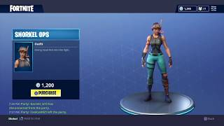 Fortnite Battle Royale New Snorkel Ops Skin