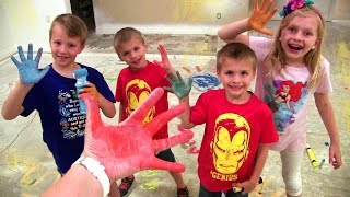 Kids Paint the New House & Birthday Party Prep || Mommy Monday