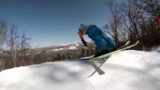 Сноубординг и лыжи. Красиво!