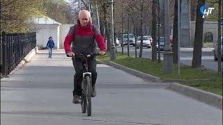 сотни новгородцев приняли участие в акции на работу на велосипеде