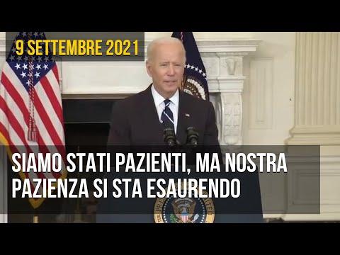 """Biden: """"cosa aspettate a vaccinarvi? Siamo stati pazienti, ma la nostra pazienza si sta esaurendo"""""""