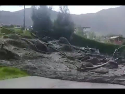 Avalancha generó pánico entre los pobladores de La Uvita Boyacá | Noticias Caracol