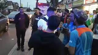 Cricket world cup India vs Pakistan. SOME DRUNK  FANS ABUSIVE AND VIOLENT  SEEN IN LONDON