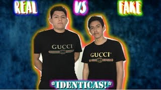 PLAYERA GUCCI ORIGINAL DE $520 VS UNA FAKE DE $30! *IDENTICAS*