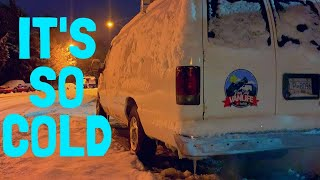 Snow, Ice, And a Flat Tire...Cold Winter Van Life In Canada