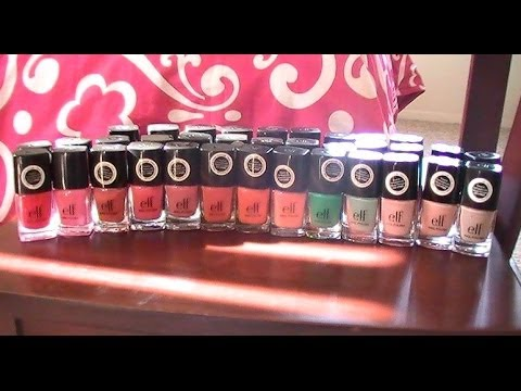 My ELF Nail Polish Collection!! (35 Swatches)
