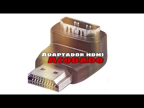 Video de Adaptador HDMI acodado 90 grados  Negro