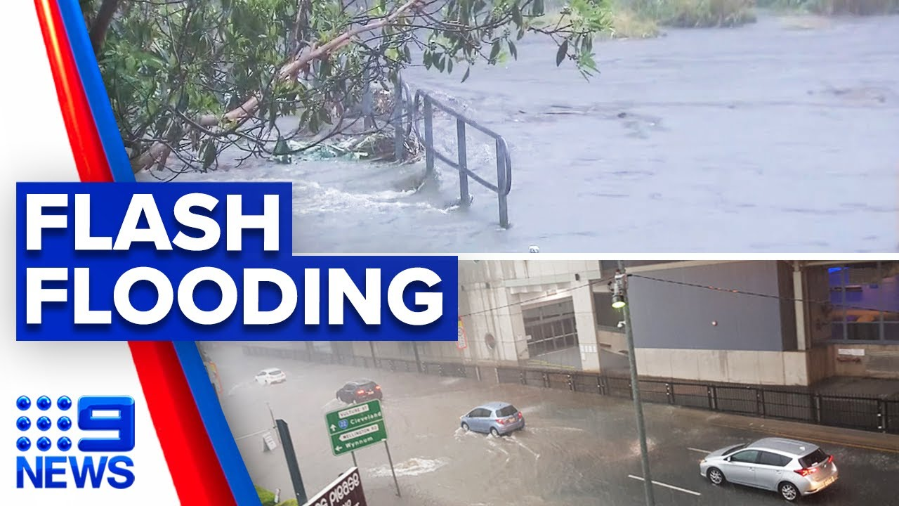 Download Severe storms trigger flash flooding in Queensland | 9 News Australia