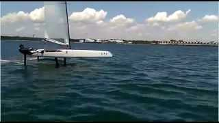 Bruce Mahoney Foiling the A-Class Catamaran in Panama  City, FL