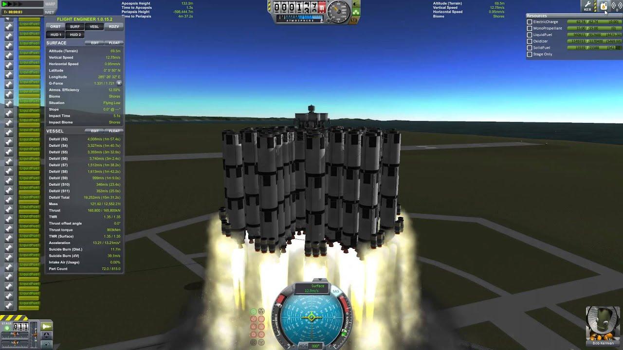 Kerbal Space Program - Insanely Huge Rockets - Munar ...