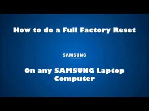 samsung laptop factory reset button