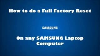 Video Samsung Laptop Factory Default Restore reinstall Windows (reset NP RV SF RF RC QX NP300 RC512 QX411) download MP3, 3GP, MP4, WEBM, AVI, FLV Oktober 2018