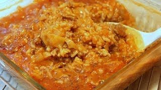 Cabbage Roll Hot Dish - Casserole