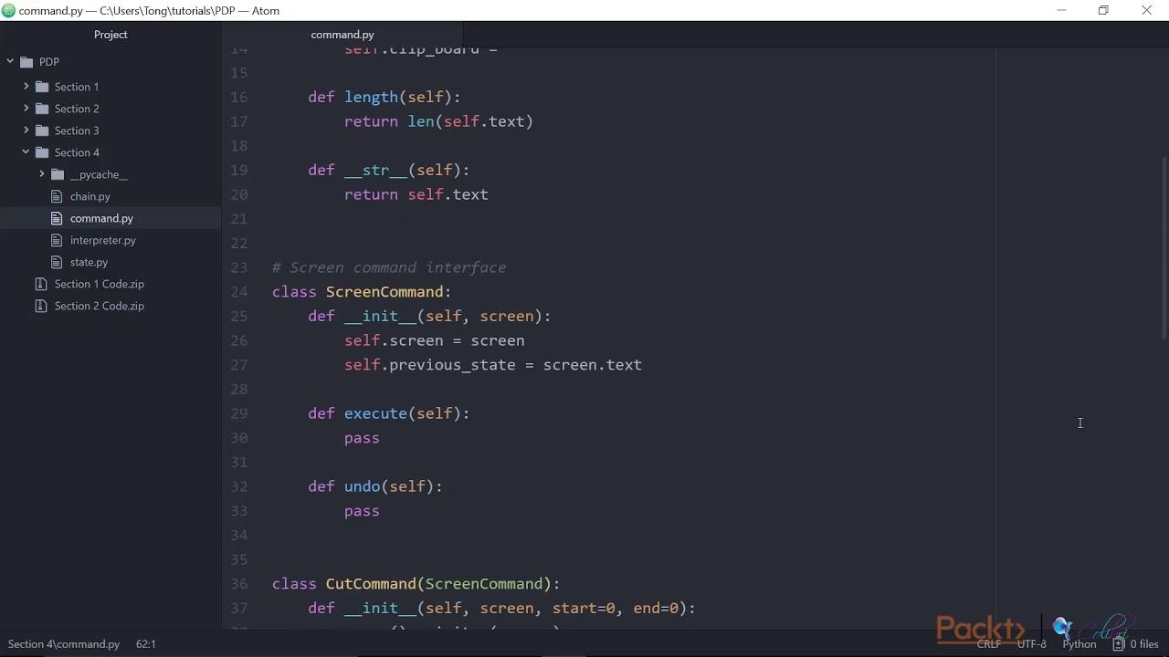 Python Design Patterns Command Packtpub Com Youtube
