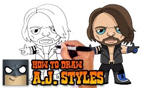 How to Draw AJ Styles | WWE