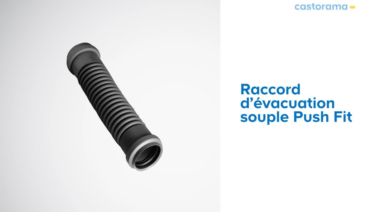 Raccord D Evacuation Souple Push Fit Wirquin 500347 Castorama