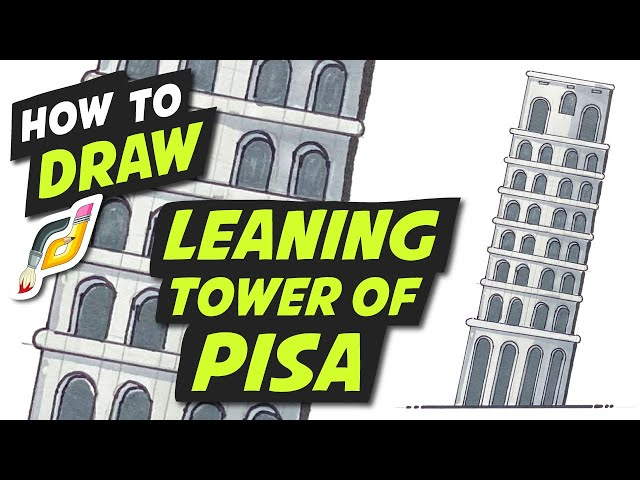 How to Draw LEANING TOWER OF PISA - Easy Fun step by step Beginner