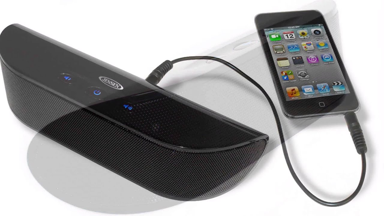 Jensen SMPS 200 Portable Stereo Speaker For IPod/iPhone, MP3, Tablet,  Smartphone   YouTube