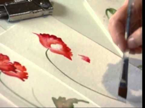 poppy using watercolors by susan scheewe video by