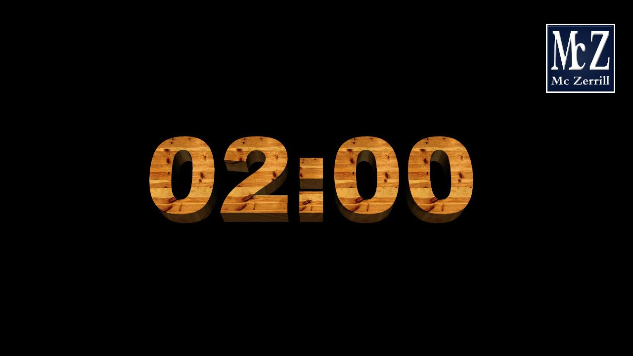 2 minute countdown timer