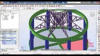 Autodesk Robot Structural Analysis-Curved Beam in Plan with Roof Truss