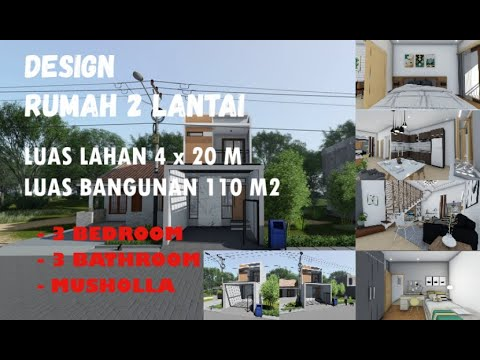 desain rumah 2 lantai minimalis modern,scandinavian dengan