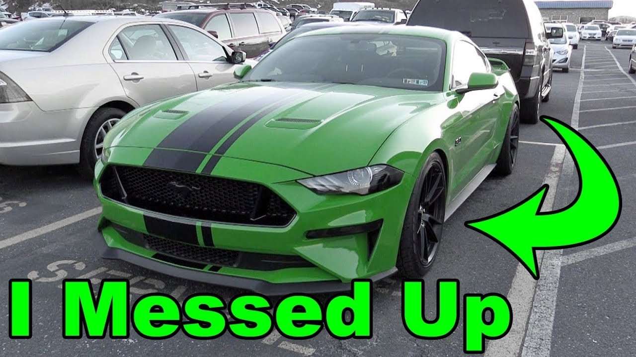 I made a mistake modifying my 2019 ford mustang gt