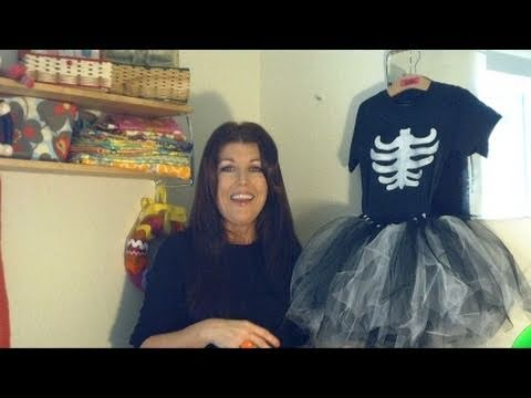 sc 1 st  YouTube & How to Make a Girls Tutu Skeleton Costume Day 21 - YouTube
