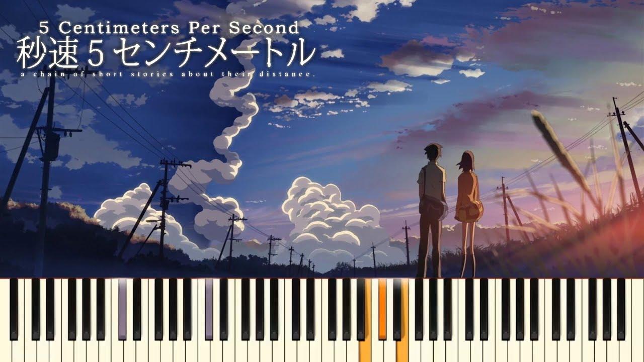5 Centimeters Per Second End Theme Piano Cover Pianubi Synthesia