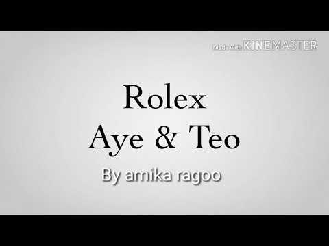 Aye and Teo Rolex  3  Amika Ragoo