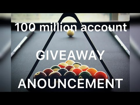 100 Million Coins Giveaway Winner [ Winner Is You]   8 Ball Pool By Miniclip