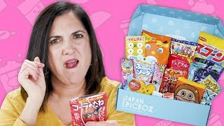 Mom Tries Snacks from Japanese Snack Box  | Mom Vs. | Well Done