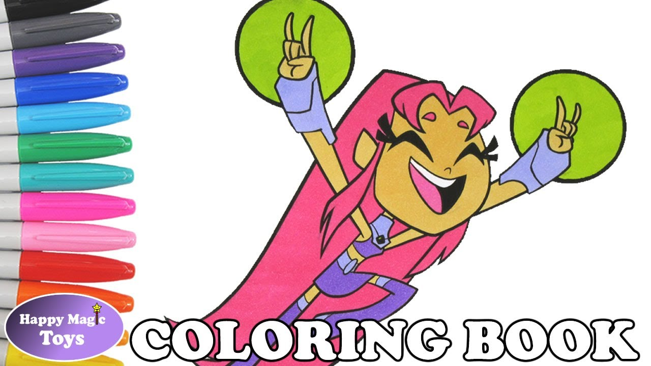 teen titans go starfire coloring book pages teen titans go starfire coloring pages kids art