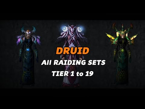 World of Warcraft - Druid Tier 1 to 19 All Armor Sets