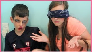 Blindfolded Makeup Challenge! Feat. My Brother Matthew